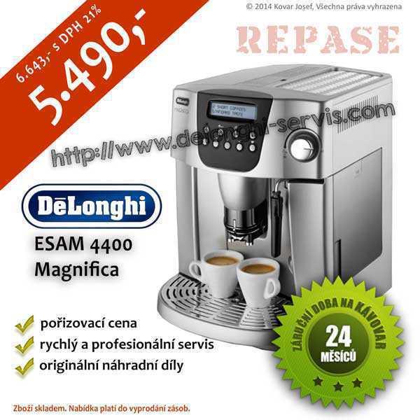 Repasovaný espresso automatický kávovar DeLonghi ESAM 4400 Magnifica