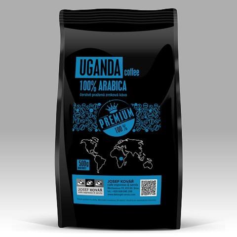 Uganda čertvé kávy