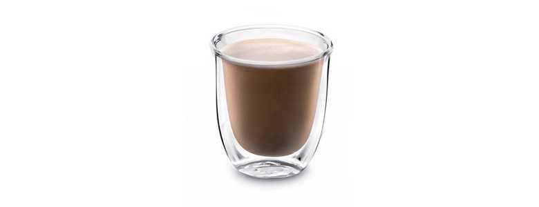 Sklenice káva Flat-White