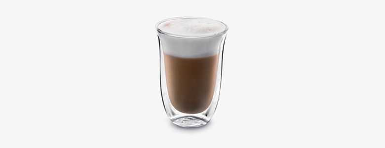 Sklenice káva Latte