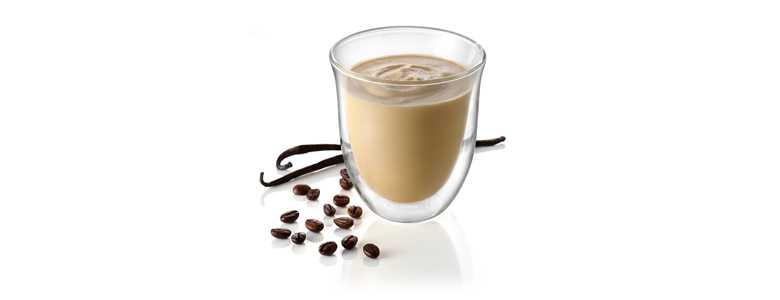 Sklenice káva Vanilla-Latte