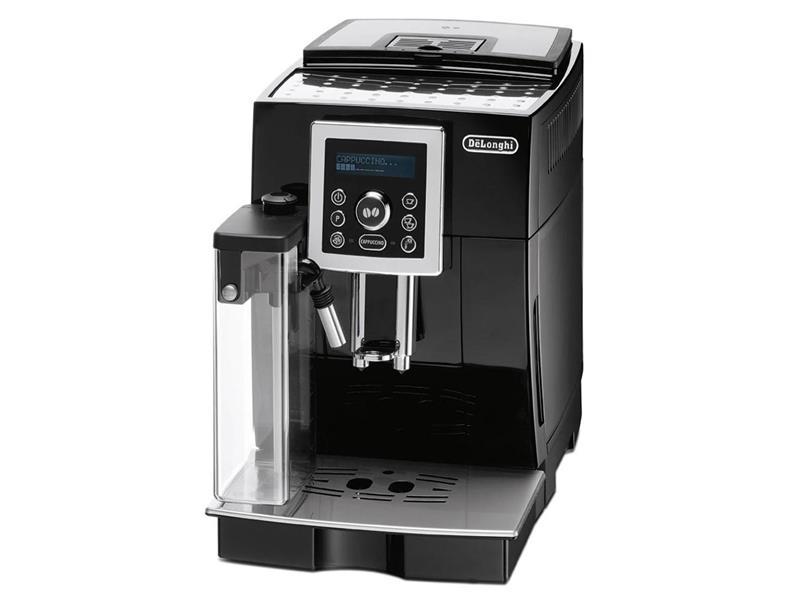 Plnoautomatický kávovar DeLonghi ECAM 23.450.B pro výrobu cappuccina jedním stiskem tlačítka.