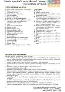 Delonghi Magnifica ESAM 4500.S návod a manuál k obsluze kávovaru strana 2