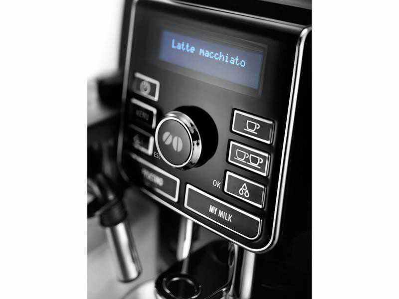 Espresso kávovar DeLonghi ECAM 25.452.B detailní pohled na ovládací panel