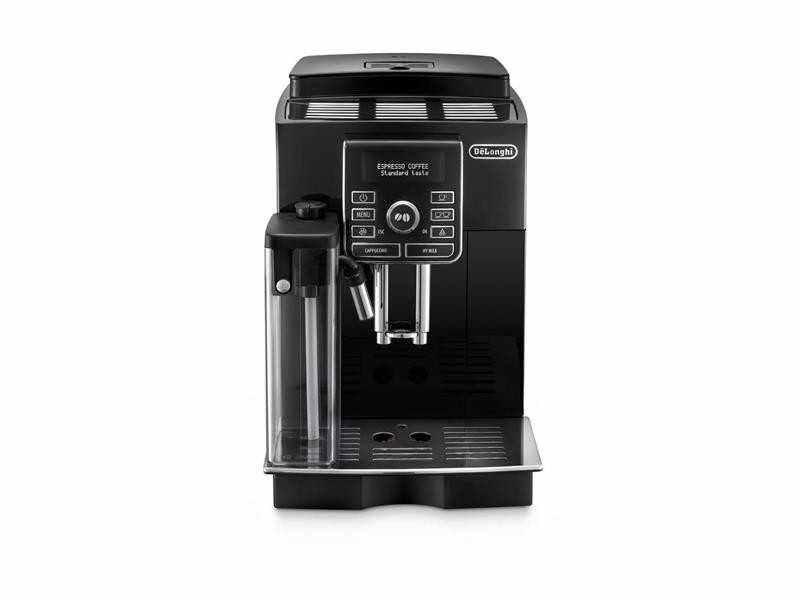 Espresso kávovar Espresso kávovar DeLonghi ECAM 25.452.B detailní pohled zepředu